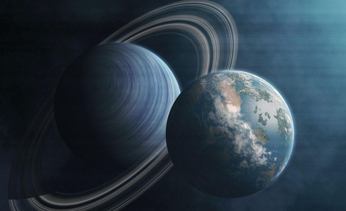Planet Space stars earth sci-fi wallpaper