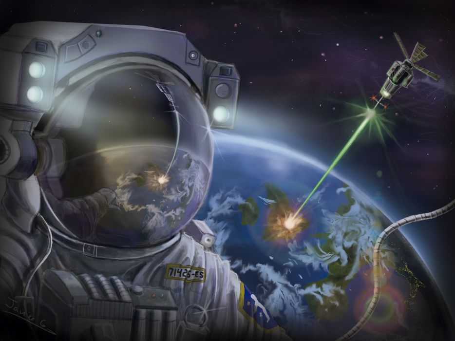 astronaut in space painting - photo #45