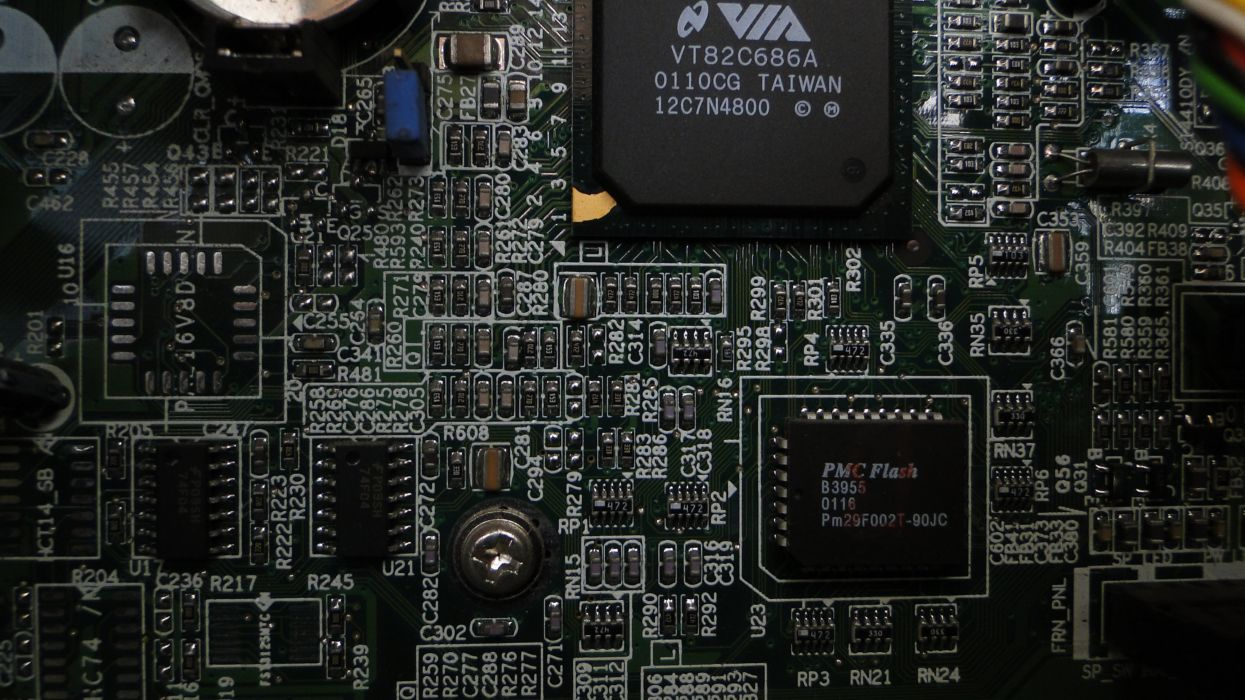 Printed Circuit Boards electronic macro texture diode wallpaper