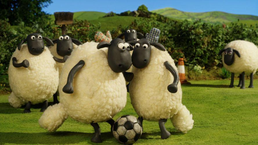 SHAUN-THE-SHEEP animation family comedy shaun sheep adventure wallpaper