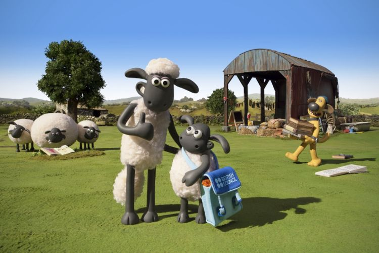 SHAUN-THE-SHEEP animation family comedy shaun sheep adventure wallpaper