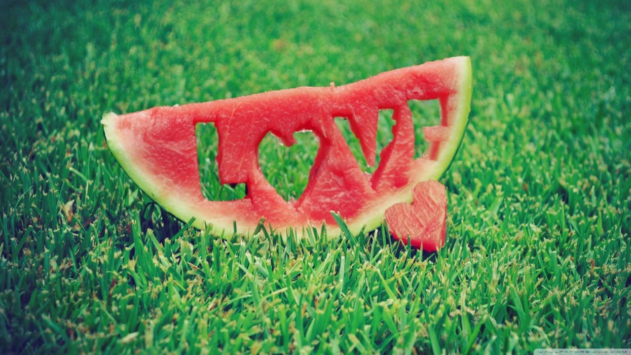 love abstract watermelons wallpaper