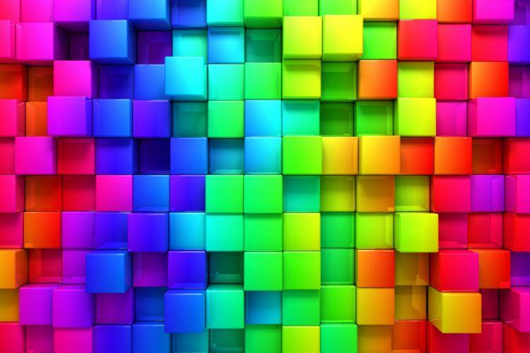 Rendering cubes background color wallpaper