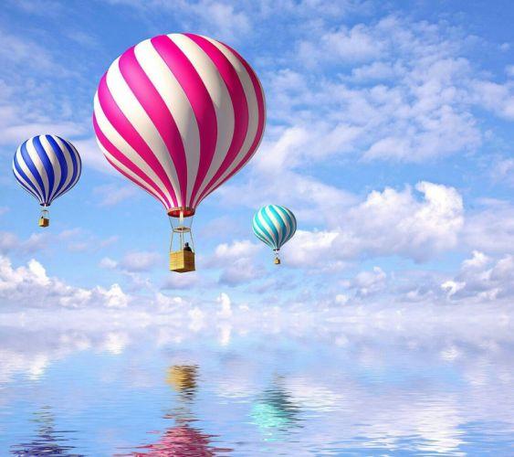 Fotos sky balloons cloud reflection wallpaper