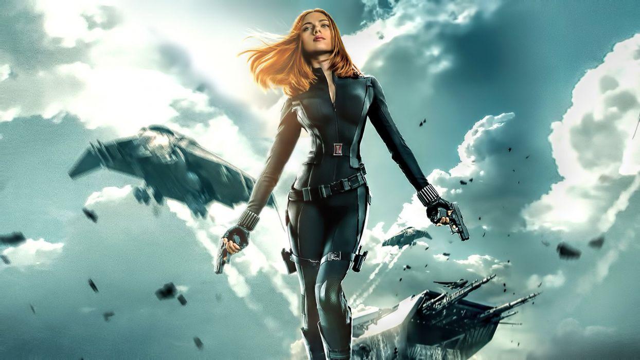 Scarlett Johansson Captain America The Winter Soldier Wallpaper