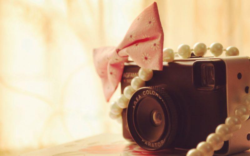 camera cute beads wallpaper