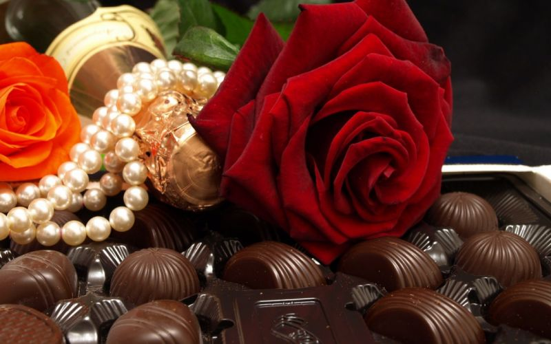 candy chocolate rose food wallpaper