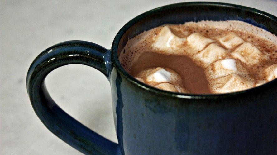 chocolate drink mug marshmallow wallpaper