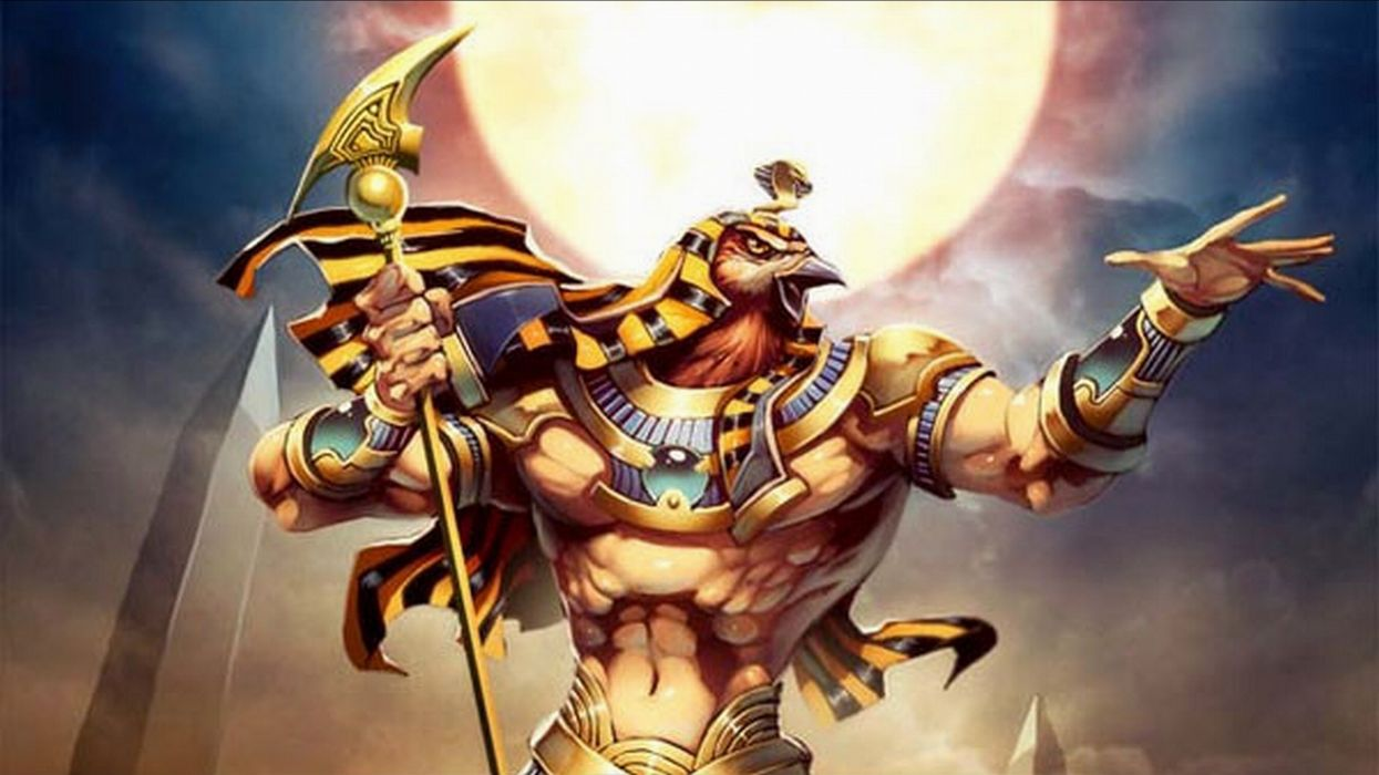 Ra Egyptian God of the Sun wallpaper