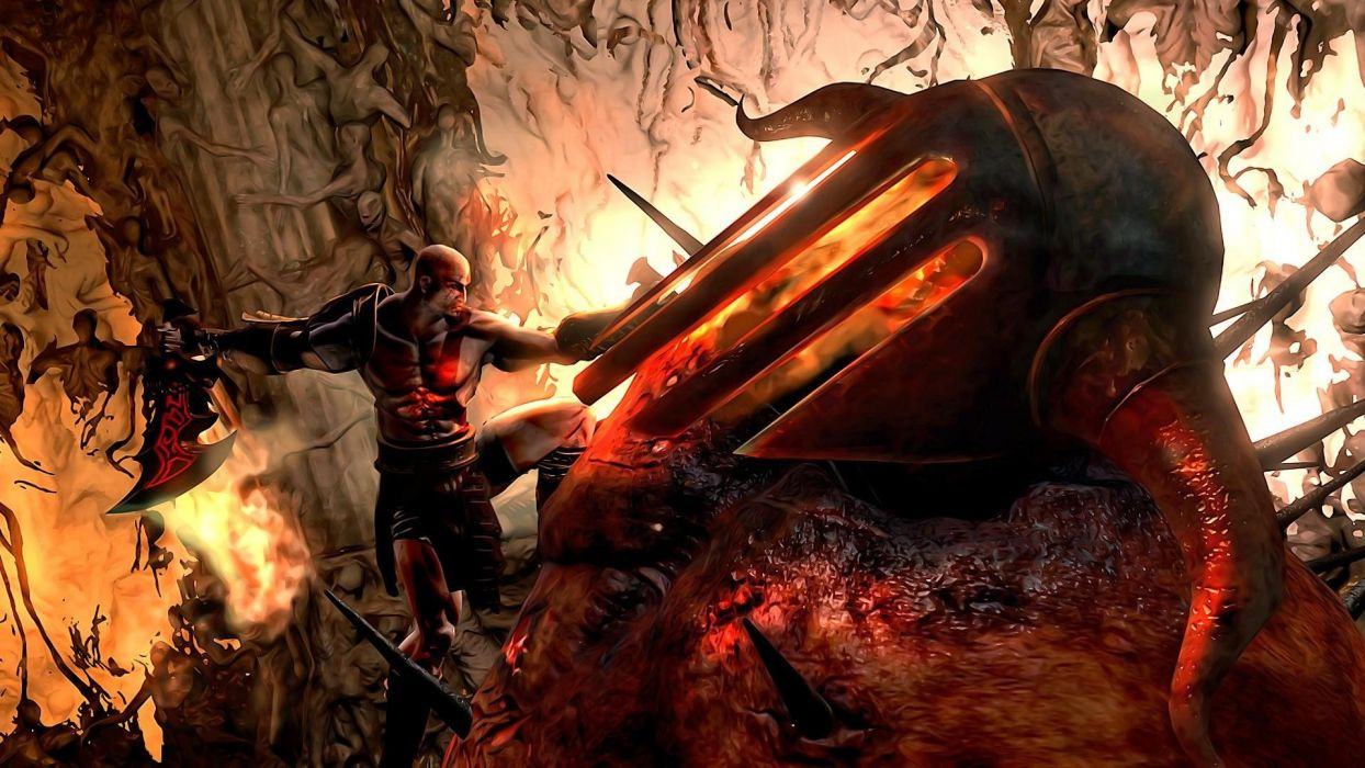 God of War 3 Hades boss fight wallpaper