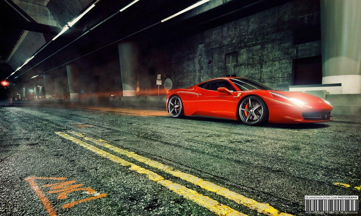 Ferrari 458 in Gotham City wallpaper