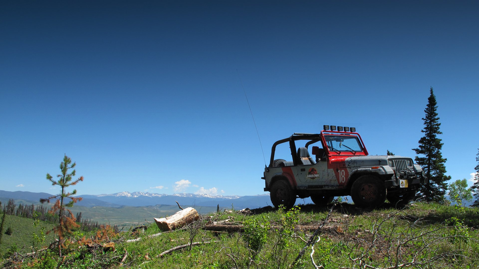 Jurassic Park Jeep To The Top Wallpaper 1920x1080 563920 Wallpaperup
