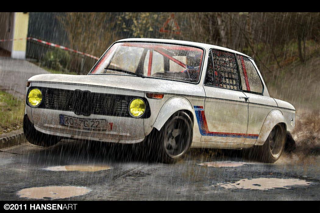 BMW 2002 wet race wallpaper