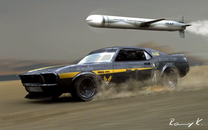 Mustang vs Tomahawk wallpaper
