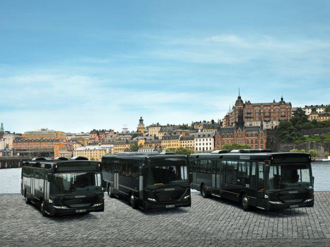 Scania semi tractor bus transport b wallpaper