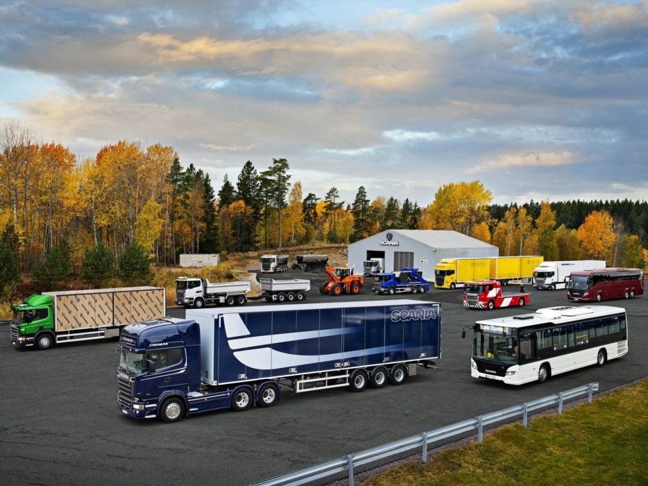 Scania semi tractor bus transport wallpaper