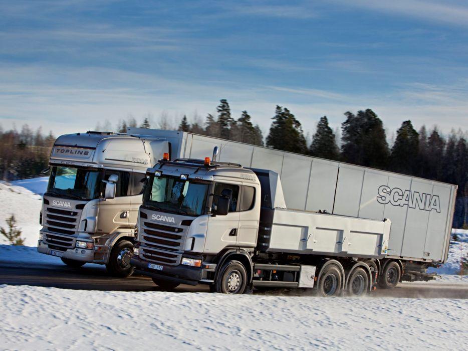Scania semi tractor quarry construction dump dumptruck j wallpaper