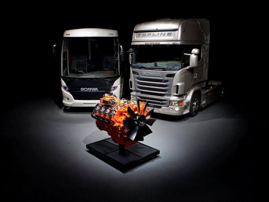 Scania semi tractor bus transport jf wallpaper