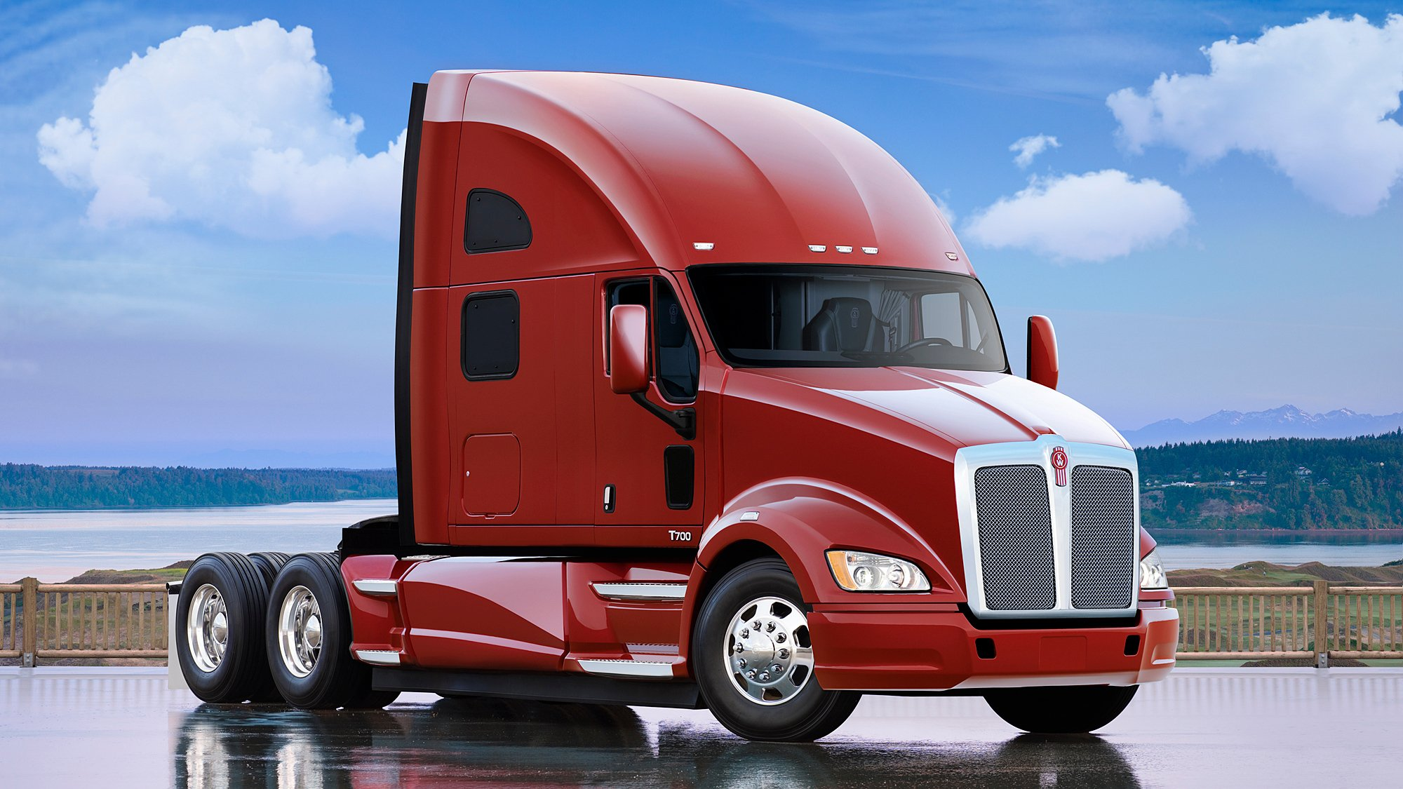 2017 Kenworth T680 >> 2010 Kenworth T700 semi tractor transport wallpaper | 2000x1125 | 564100 | WallpaperUP