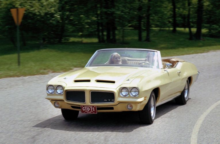 1971 Pontiac GTO Convertible muscle classic wallpaper