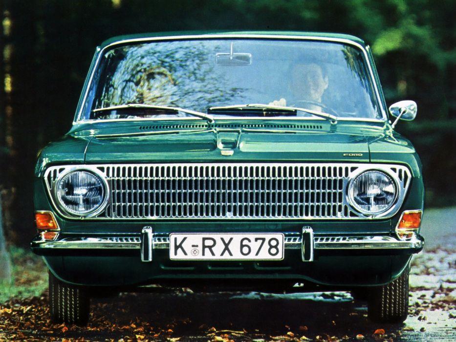 1967 Ford 12M 4-door Saloon classic lights chrome people bokeh wallpaper