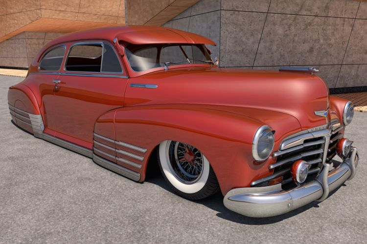 1948 Chevrolet Fleetline lowrider retro custom chevy wallpaper