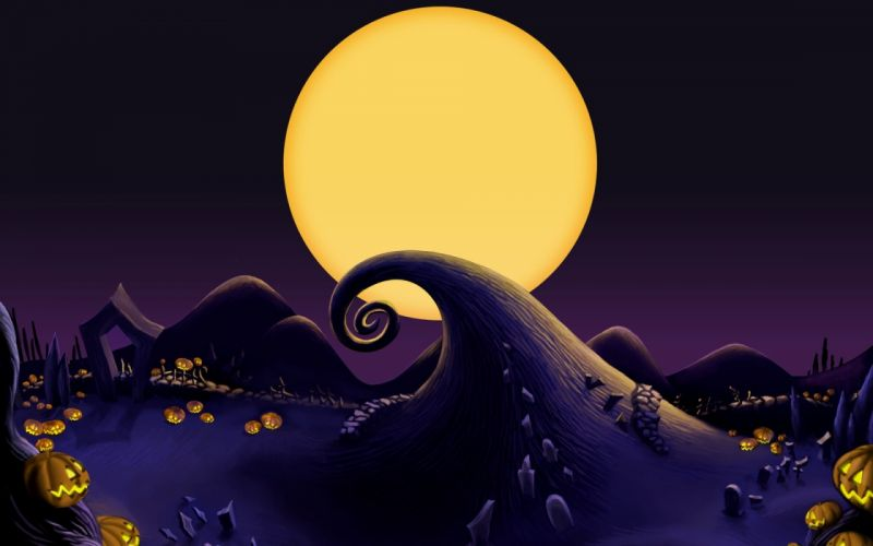 The Nightmare Before Christmas The Pumpkim Hill wallpaper