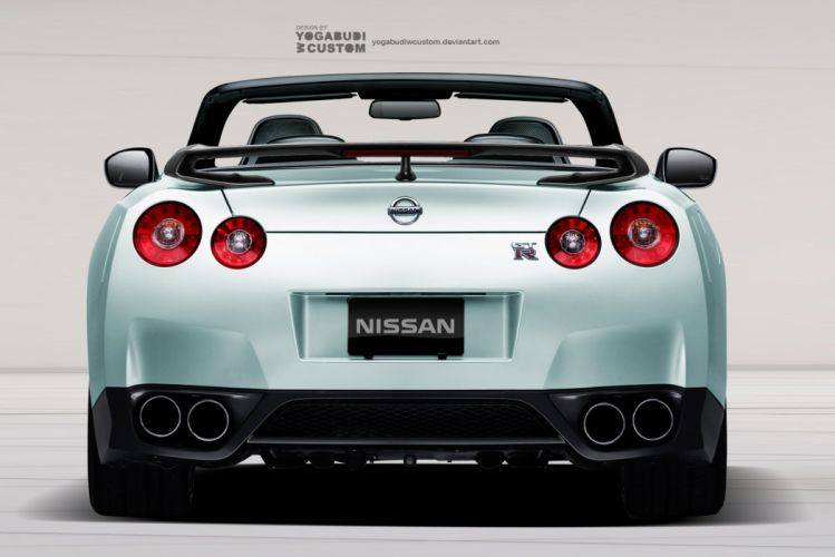 Nissan GTR Convertible - Rear View wallpaper