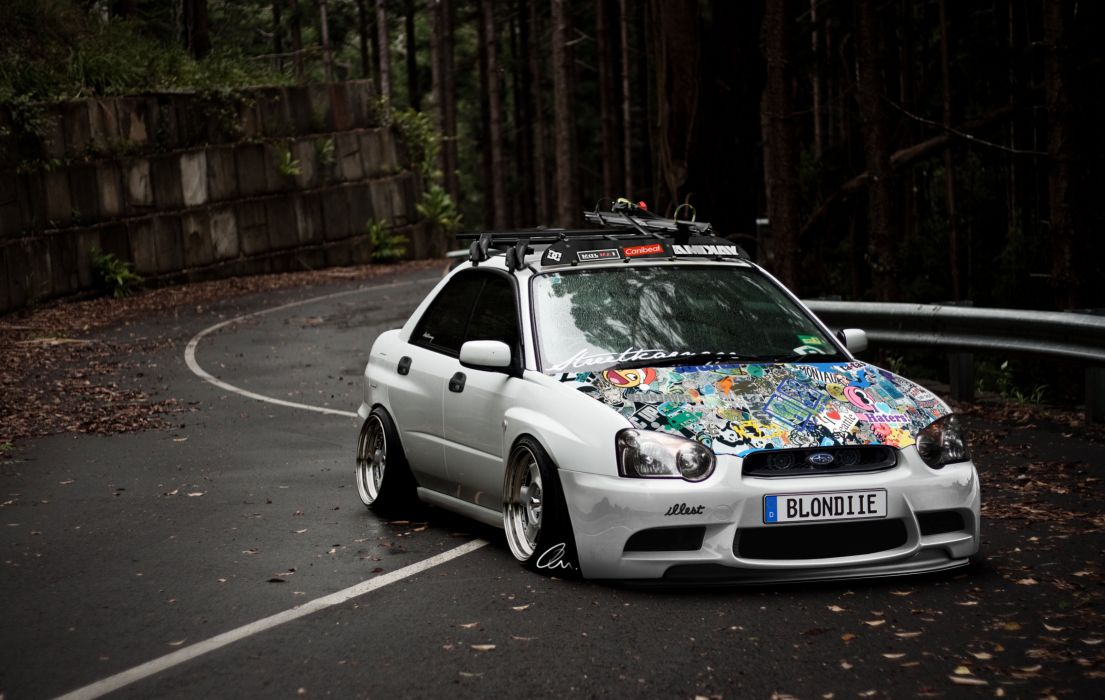 Stance Works Subaru Wagon wallpaper