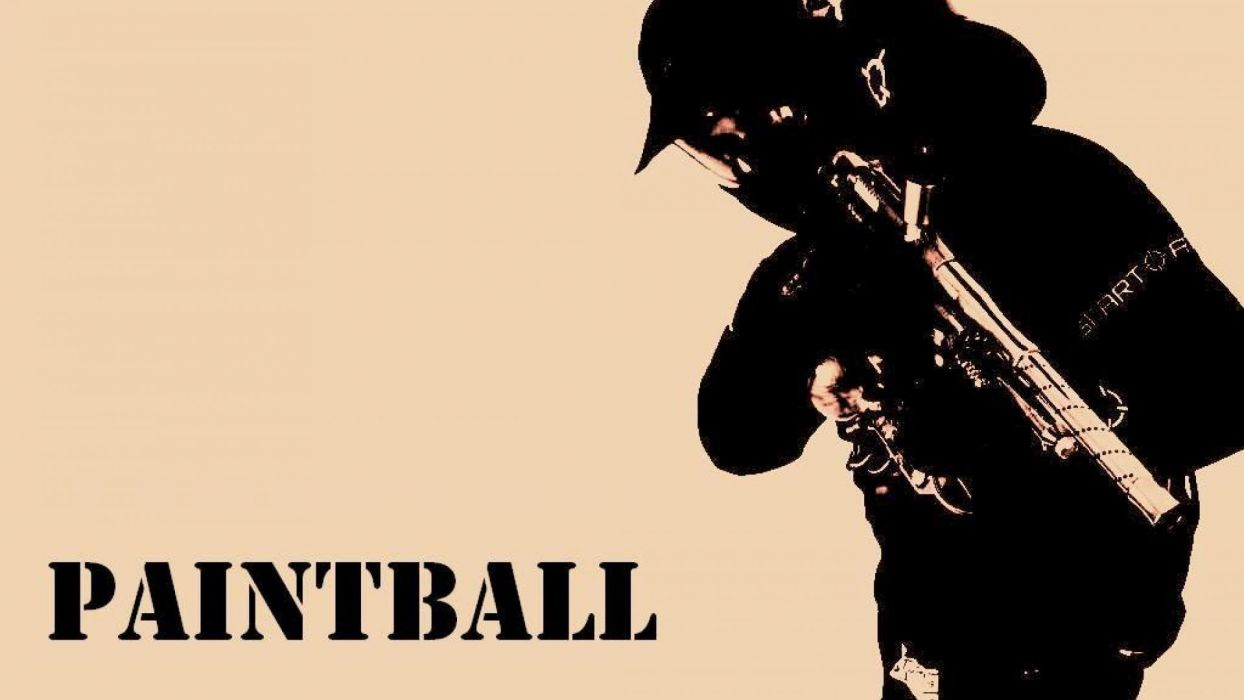 PAINTBALL weapon gun paint extreme strategy action wallpaper