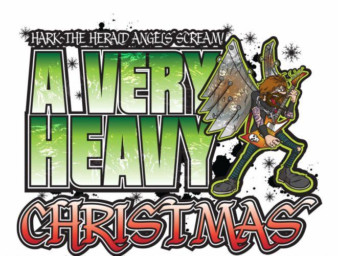 heavy metal christmas holiday guitar wallpaper
