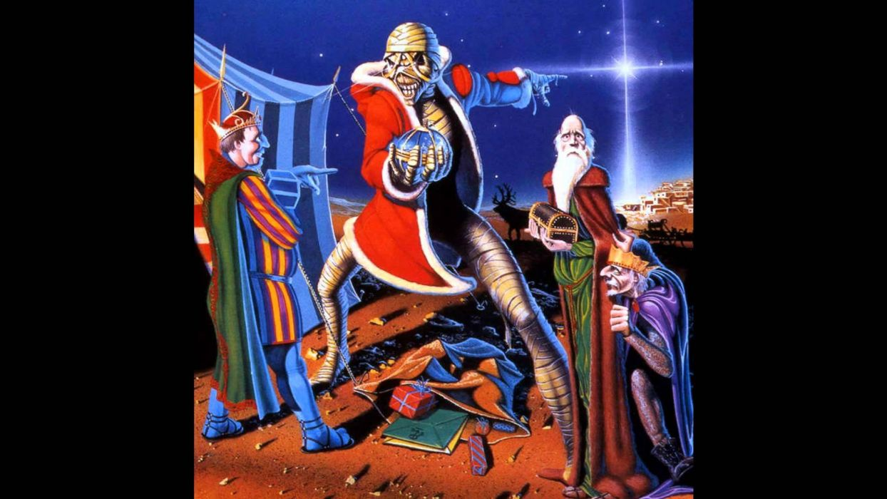 Heavy Metal Christmas.Heavy Metal Christmas Holiday Iron Maiden Wallpaper