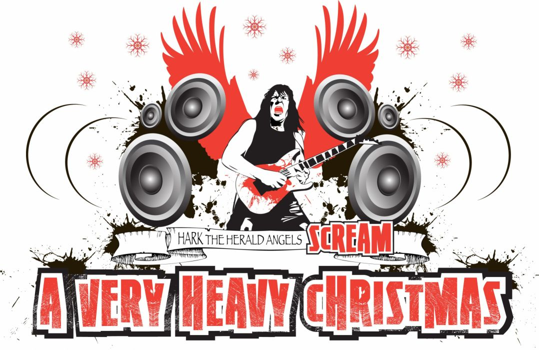 heavy metal christmas holiday guitar wallpaper - Heavy Metal Christmas