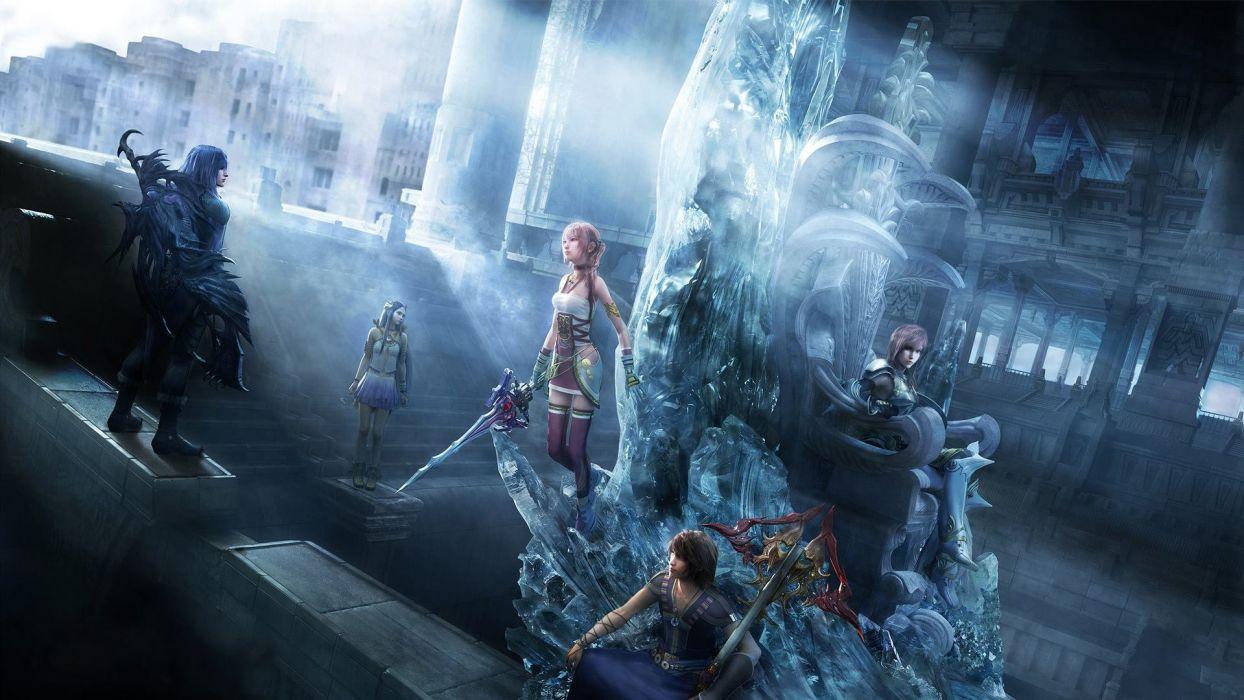 armor bodysuit caius ballad cg dress final fantasy lightning noel kreiss paddra nsu-yeul serah farron square enix sword t wallpaper