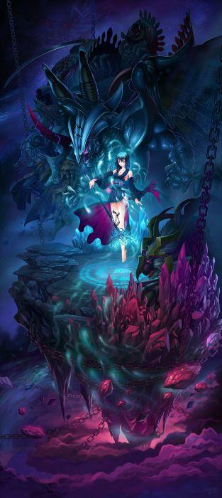 Cleavage Diamond Dust Final Fantasy X Landscape Monster Yuna Wallpaper