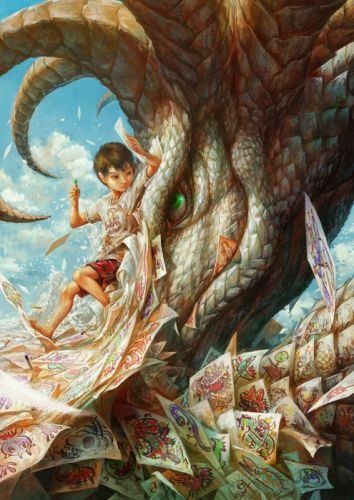 male children monster nurikabe wallpaper