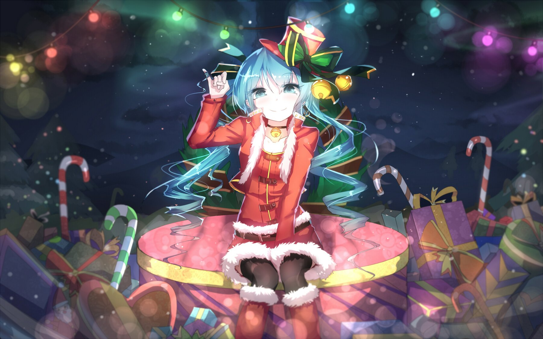 Christmas hatsune miku vocaloid wallpaper | 1800x1125 | 565392 ...