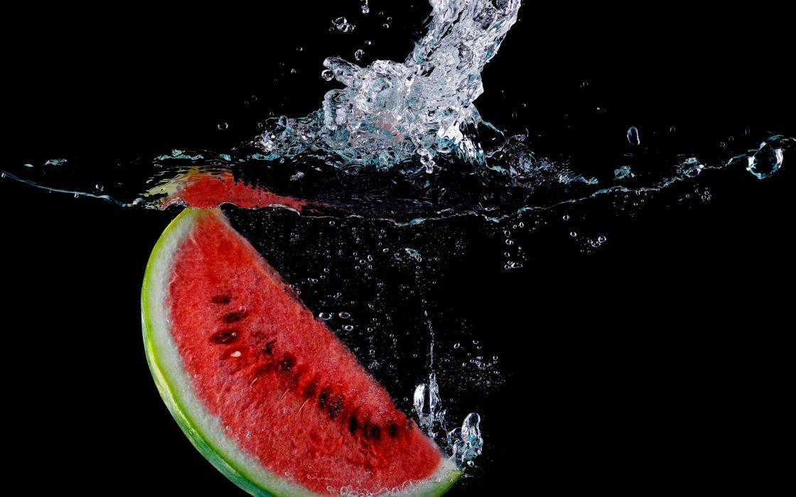 WATERMELON melon fruit red bokeh drops splash wallpaper