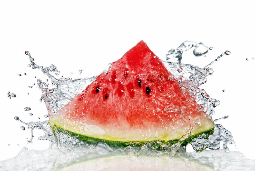 WATERMELON melon fruit red bokeh splash drops wallpaper