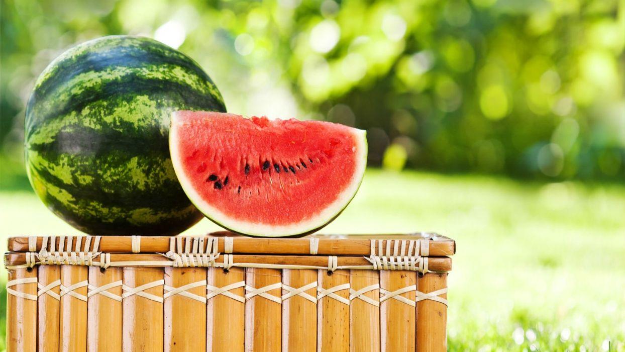 WATERMELON melon fruit red bokeh wallpaper