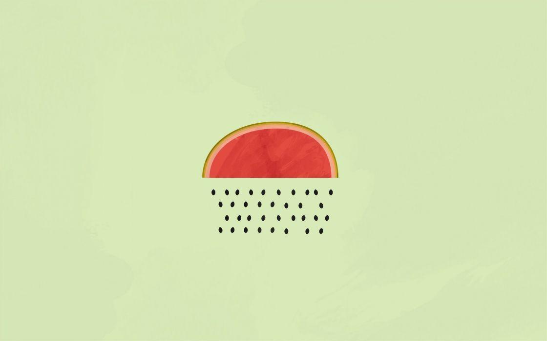 WATERMELON melon fruit red bokeh rain minimal minimalism wallpaper
