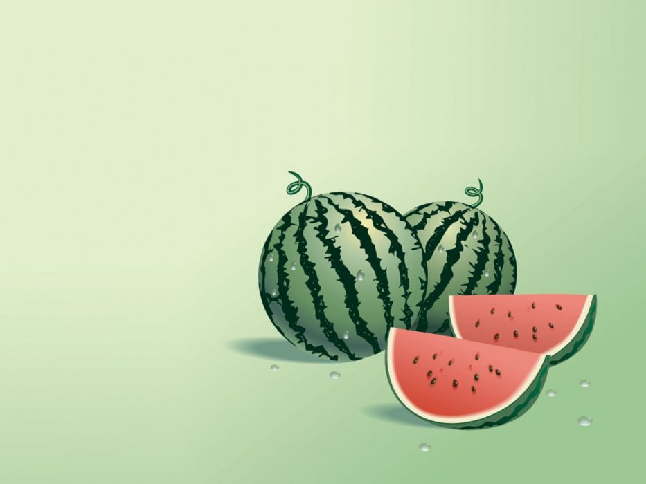 WATERMELON melon fruit red bokeh wallpaper