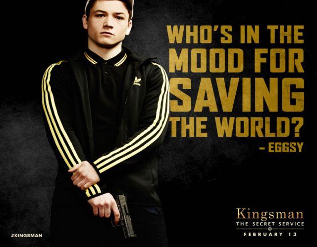 KINGSMAN-SECRET-SERVICE action adventure comedy spy crime kingsman secret service weapon gun pistol poster wallpaper
