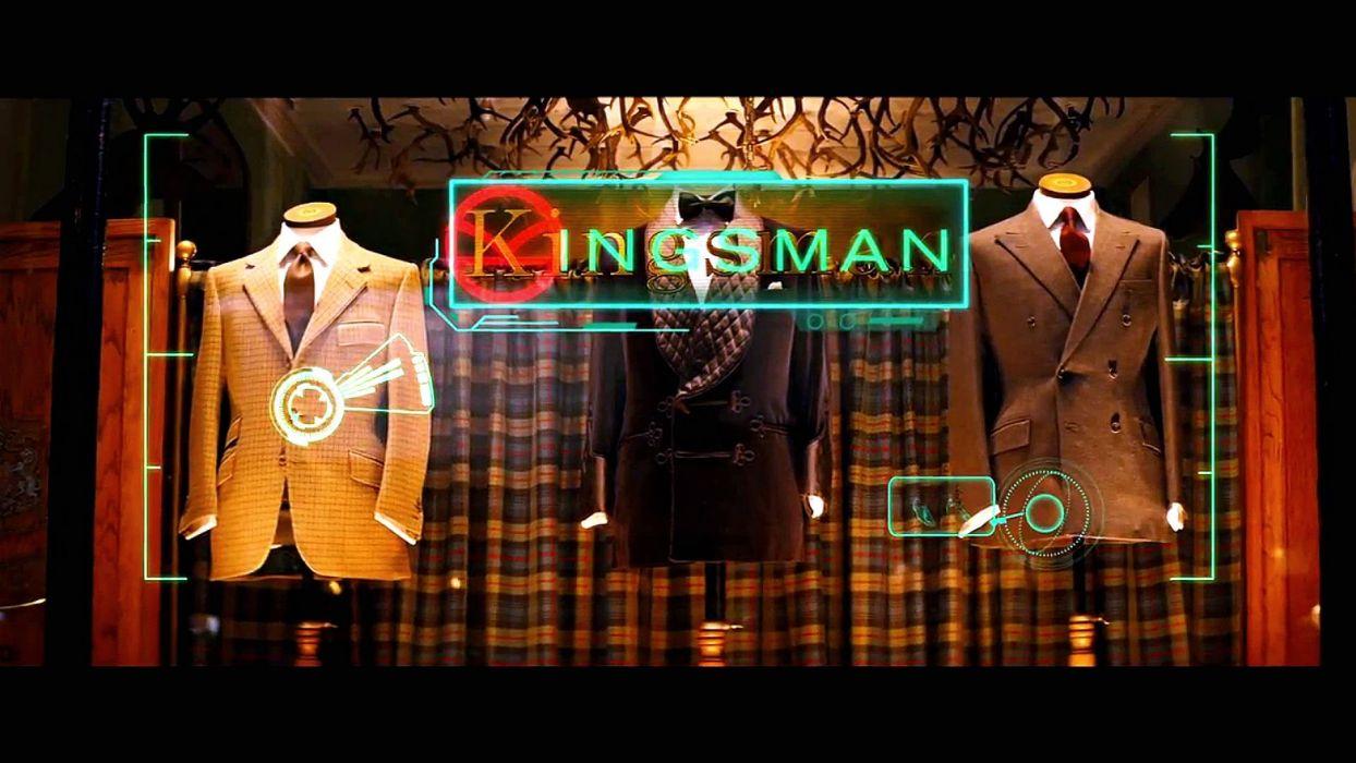 KINGSMAN-SECRET-SERVICE action adventure comedy spy crime kingsman secret service weapon gun neon sign wallpaper