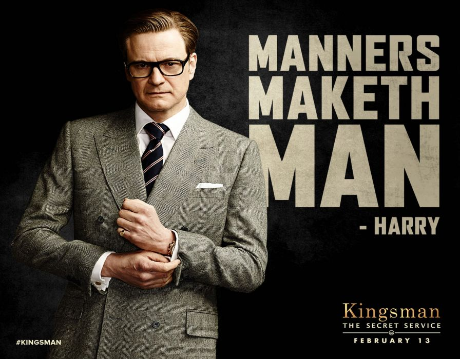 KINGSMAN-SECRET-SERVICE action adventure comedy spy crime kingsman secret service poster wallpaper