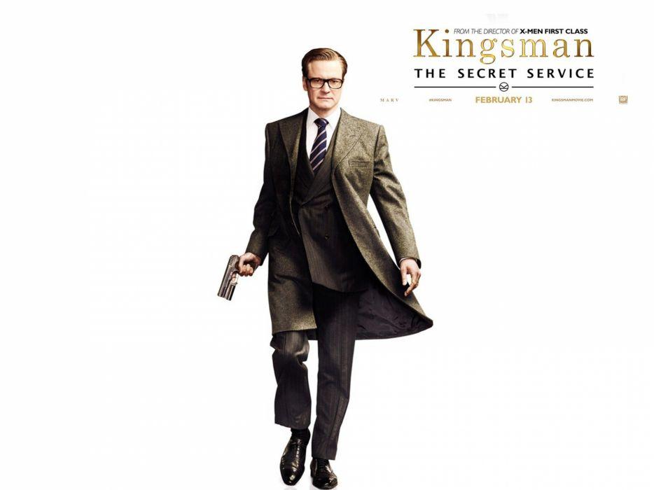 KINGSMAN-SECRET-SERVICE action adventure comedy spy crime kingsman secret service weapon gun poster wallpaper