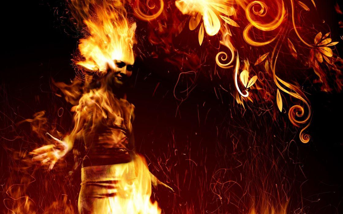 Fire Girl wallpaper