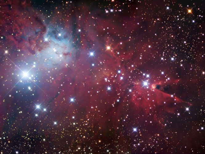 Nebula stars space light wallpaper
