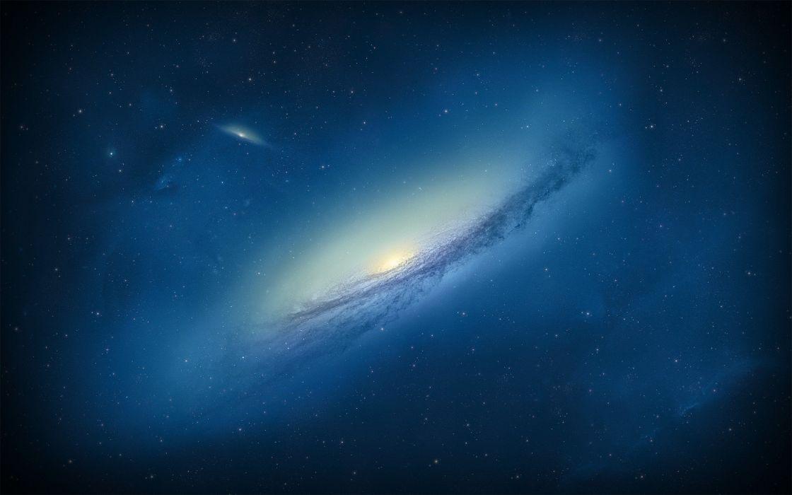 Space Galaxy Nebula Blue Stars Wallpaper 2560x1600 566081