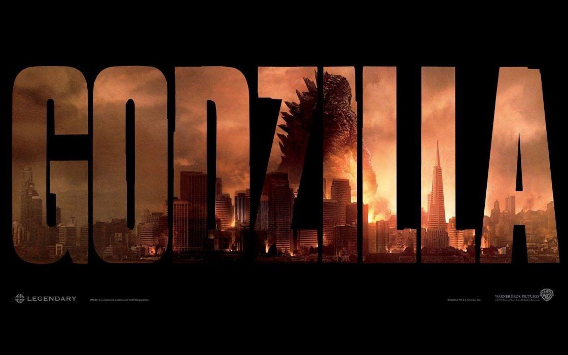 Godzilla 2014 film poster wallpaper